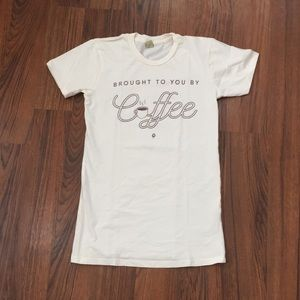 Popflex Lifestyle Coffee Fitted Tee NWOT